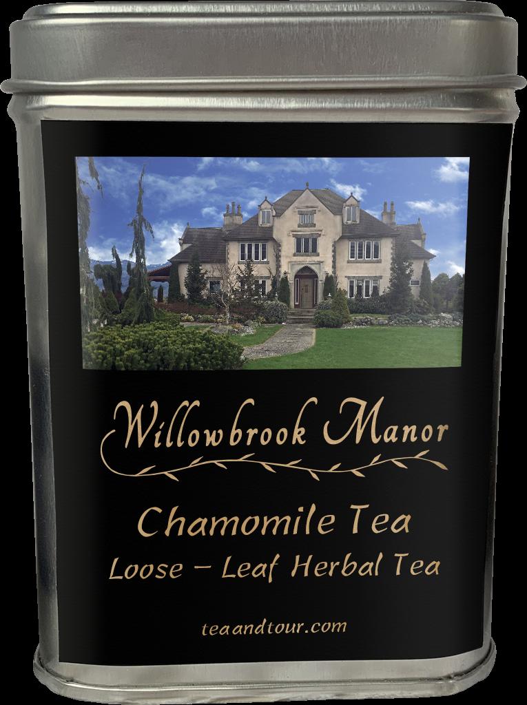 Large tin of chamomile tea